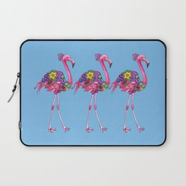 Fancy Felicity Flamingo (Blue) Laptop Sleeve