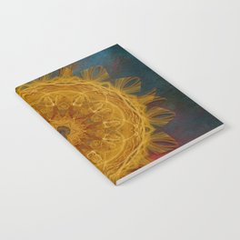 Magical fire mandala and gold butterfly Notebook