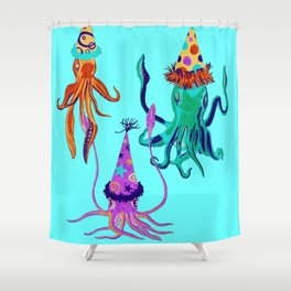 Party Squids Shower Curtain