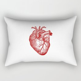 Vintage Heart Anatomy Rectangular Pillow