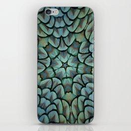 Classic Peacock Feather Kaleidoscope  iPhone Skin