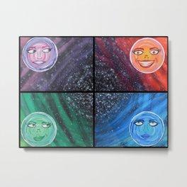 Sister Moons Metal Print