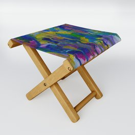 """Underwater Fireworks"" Watercolor by Noora Elkoussy Folding Stool"