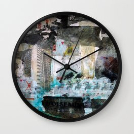 Falling from balconies Wall Clock