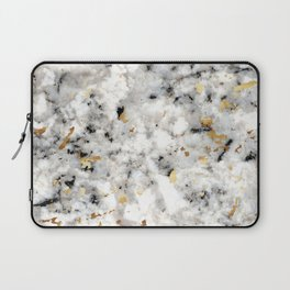 Classic Marble with Gold Specks Laptop Sleeve
