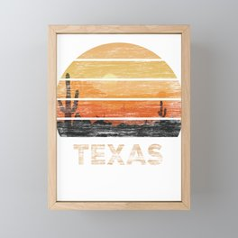 Texas T Shirt Vintage 1980s Style Desert Framed Mini Art Print