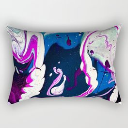 Pink vs Blue Psychedelia (Red vs Blue edit) Rectangular Pillow