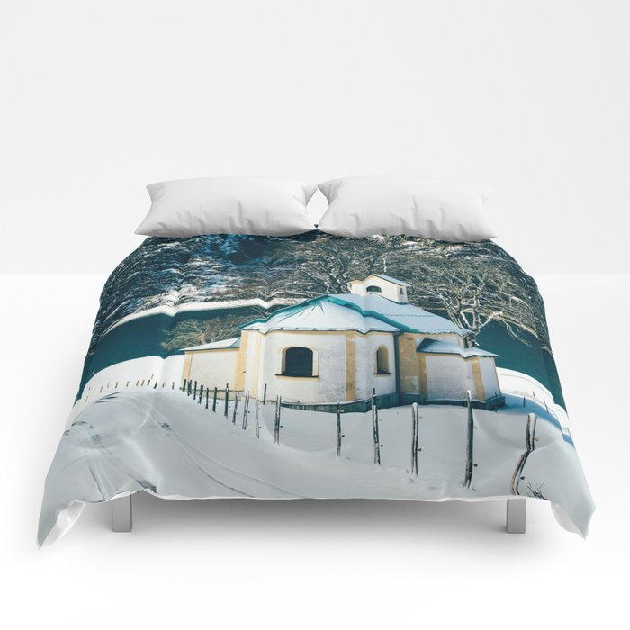 Achensee Winter Lake Church Comforters
