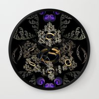 the lord of the rings Wall Clocks featuring Lord of the Rings (3) by Brian Raggatt