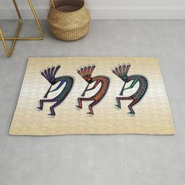THREE KOKOPELLI Rug