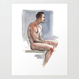 JORDAN, Nude Male by Frank-Joseph Art Print