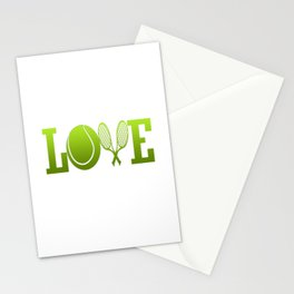 LOVE TENNIS Stationery Cards