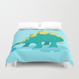 Stegosaurus and his Ball Duvet Cover