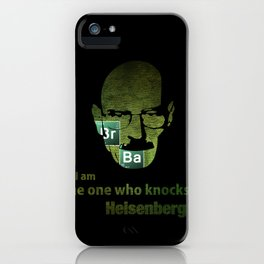 I am the one who knocks! Breaking Bad iPhone Case