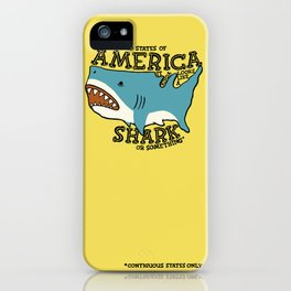 America…   it kinda looks like a shark or something iPhone Case