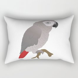 Cute African grey parrot vector Rectangular Pillow