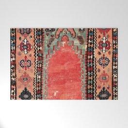 Sivas  Antique Cappadocian Turkish Niche Kilim Print Welcome Mat