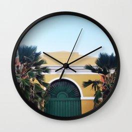 GREEN DOOR OF SAN JUAN Wall Clock