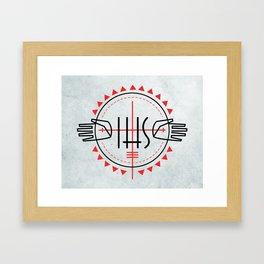 IHS religious Jesuit symbol Framed Art Print