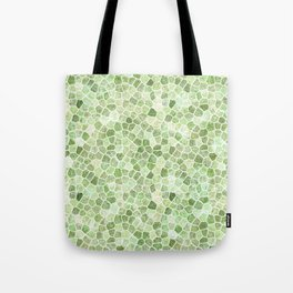 Pale Green Cobbled Patchwork Tote Bag
