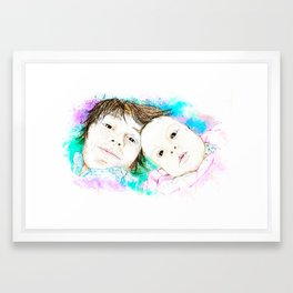Julian and Valentina Framed Art Print