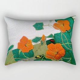 Old nasturtium Rectangular Pillow