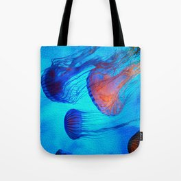 Watch the Flow of the Jelly Glow  Tote Bag
