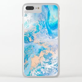 Into the Blue Lagoon Clear iPhone Case