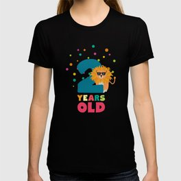 Two Years second Birthday Party Lion Diqqs T-shirt