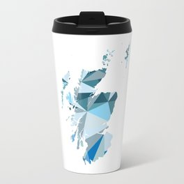 Scotland Pattern Map Art Travel Mug