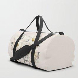 White Peonies Duffle Bag