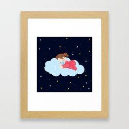 Stars at Night , nursery decor Framed Art Print