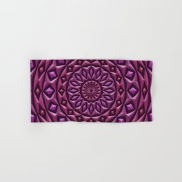 Carved in Stone Mandala Hand & Bath Towel