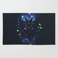 transformers Area & Throw Rugs featuring Grunge Transformers: Decepticons by Sitchko Igor