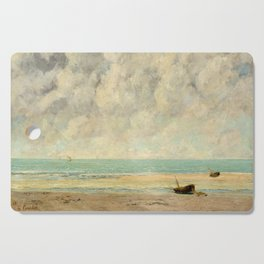 Gustave Courbet - The Calm Sea Cutting Board