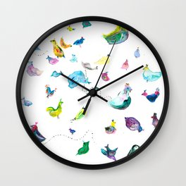 Chickens! Wall Clock