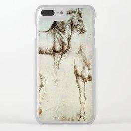 """Leonardo da Vinci """"Gran Cavallo"""" Clear iPhone Case"""