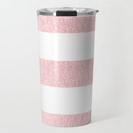 Simply Striped Rose Quartz Elegance Travel Mug