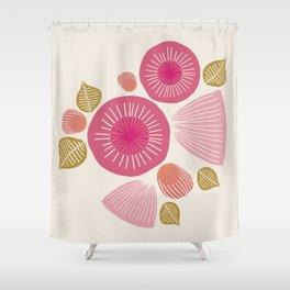 Vintage Floral Light Shower Curtain