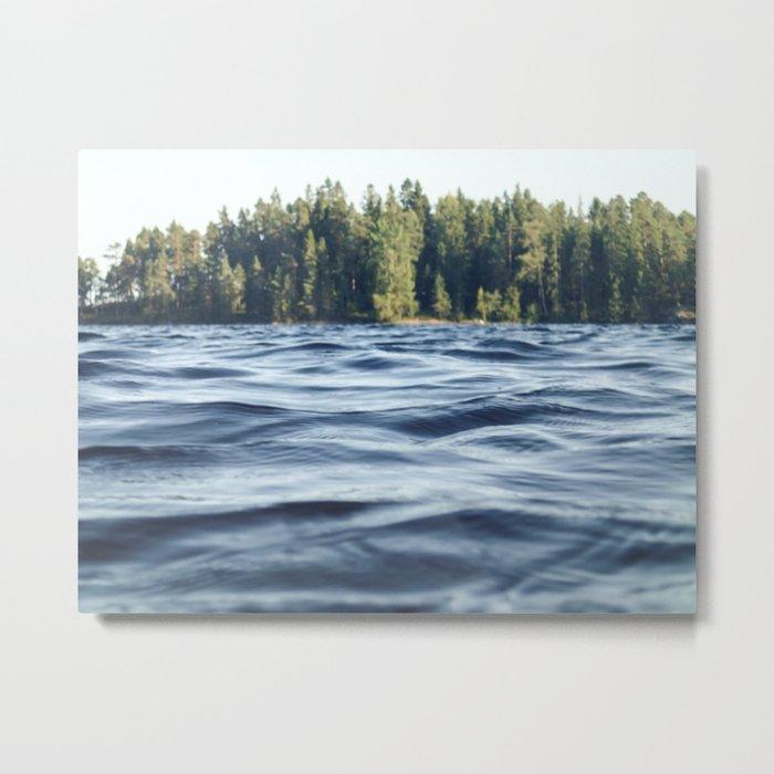 Summer Forest Lake Metal Print