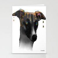 greyhound Stationery Cards featuring Greyhound BW by Marlene Watson