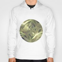 metallic Hoodies featuring Metallic Leaves by Design Windmill