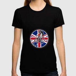British Cyclist Cycling Union Jack Flag Icon T-shirt
