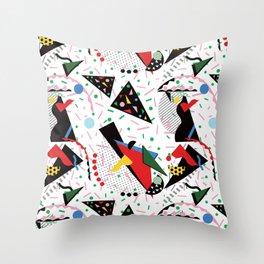Postmodern Dinner Plates Throw Pillow