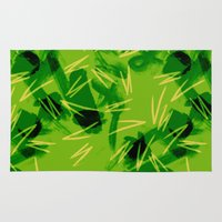 jungle Area & Throw Rugs featuring Jungle by Raluca Ag