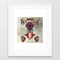 kaiju Framed Art Prints featuring Kaiju by DIVIDUS