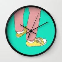 boyfriend Wall Clocks featuring Boyfriend jeans by Rinomonsta