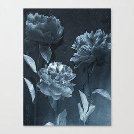 Blue Peonies Canvas Print
