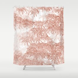 Momiji Pattern Shower Curtain