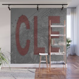 HOME IS CLE Wall Mural